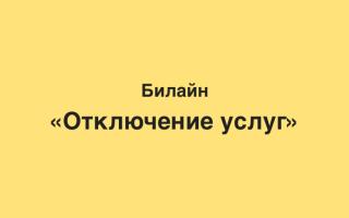 Как отключить услуги на билайне казахстан