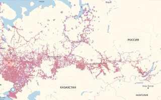 Карта покрытия билайн рязанская область