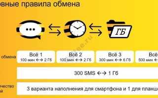 Как поменять гигабайты интернета на минуты билайн
