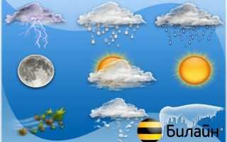 Как отключить погоду на билайне самостоятельно