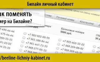 Как можно поменять номер телефона на билайне